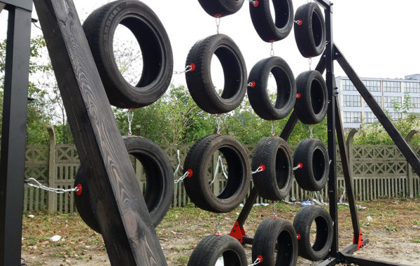 WAll OF TIRE